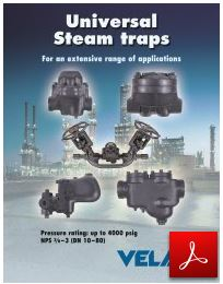 Velan valves Universal Steam Traps for an extensive range of applications
