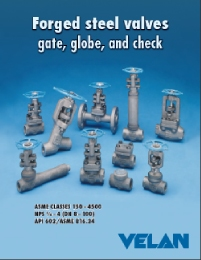 velan valves forged steel gate glove check